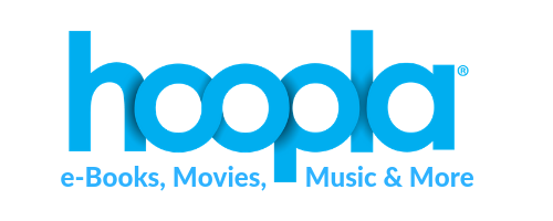 Hoopla Digital e-books, movies, music and more button