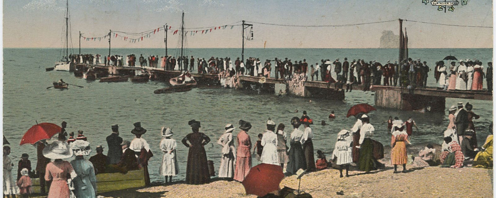 Grimsby Beach postcard