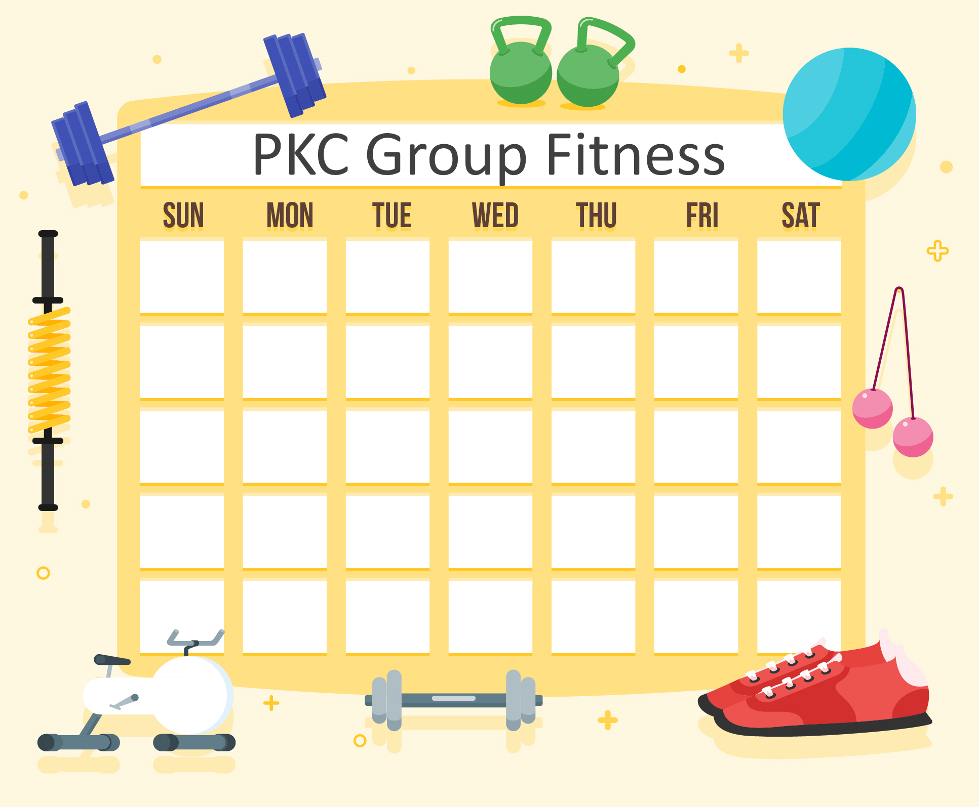 Image of Fitness Calendar