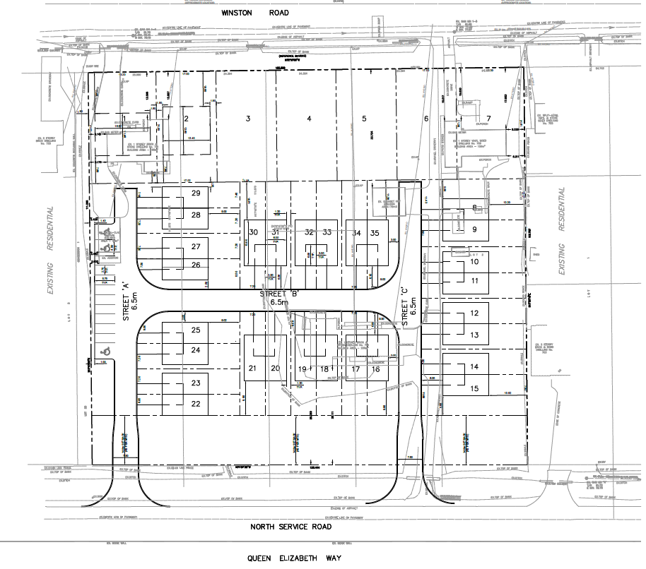 Revised Site Plan 709-721 Winston Road