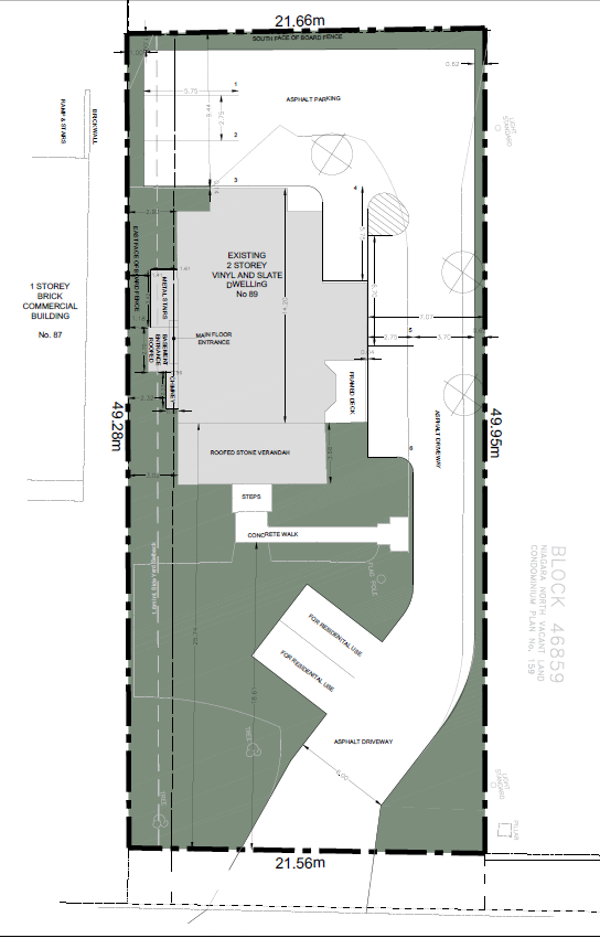 Image of revised site plan, 89 Main Street East