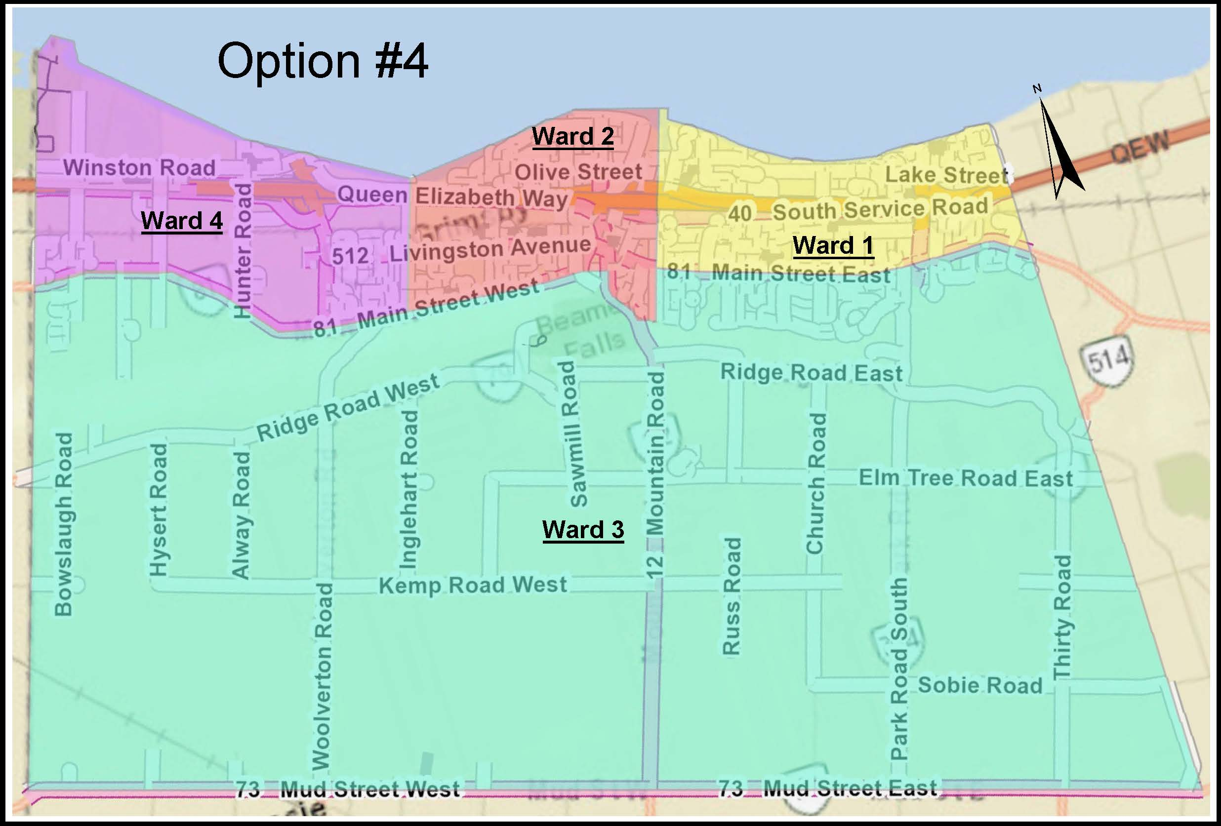 Ward Boundary Map Option 4