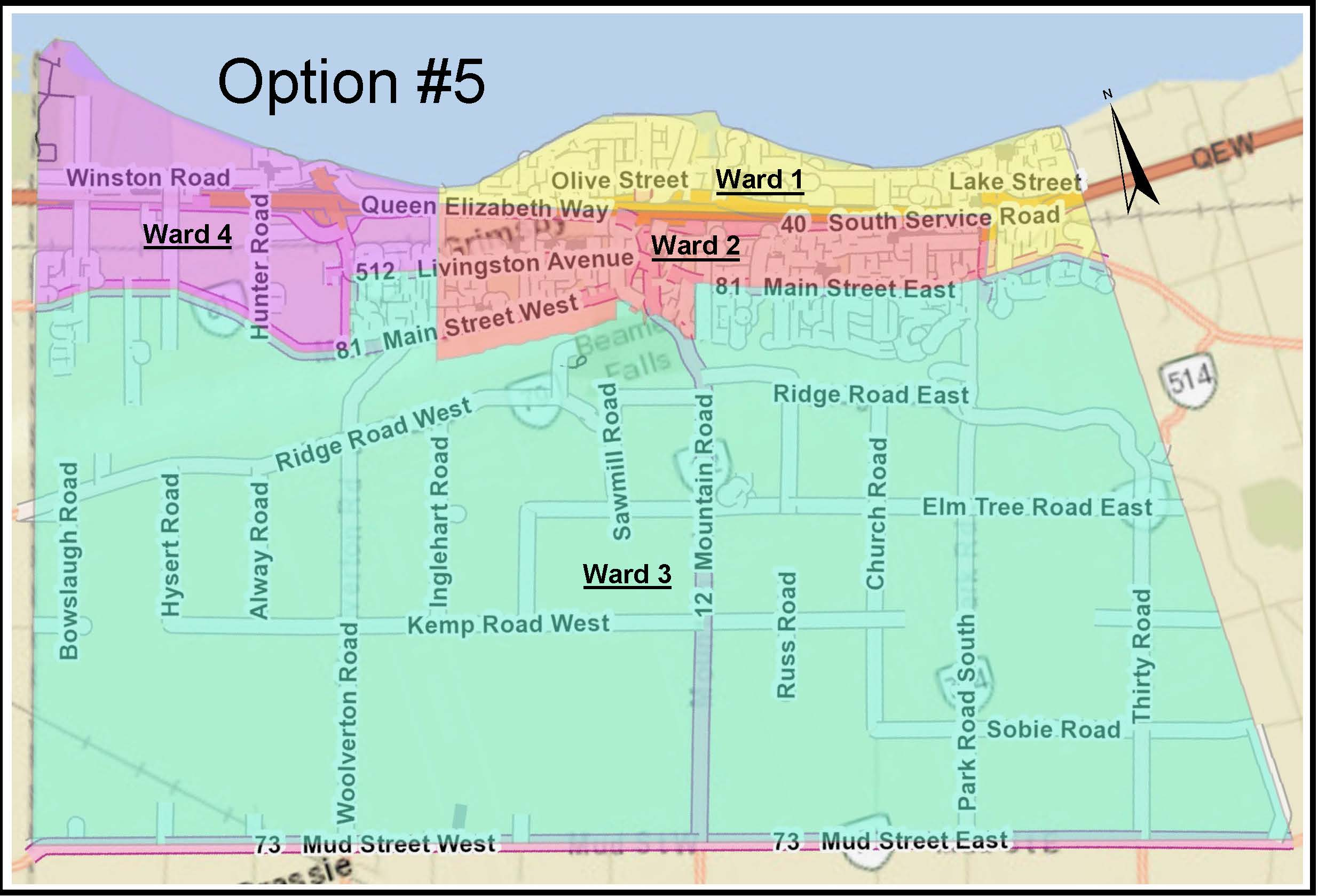 Ward Boundary Map Option 5