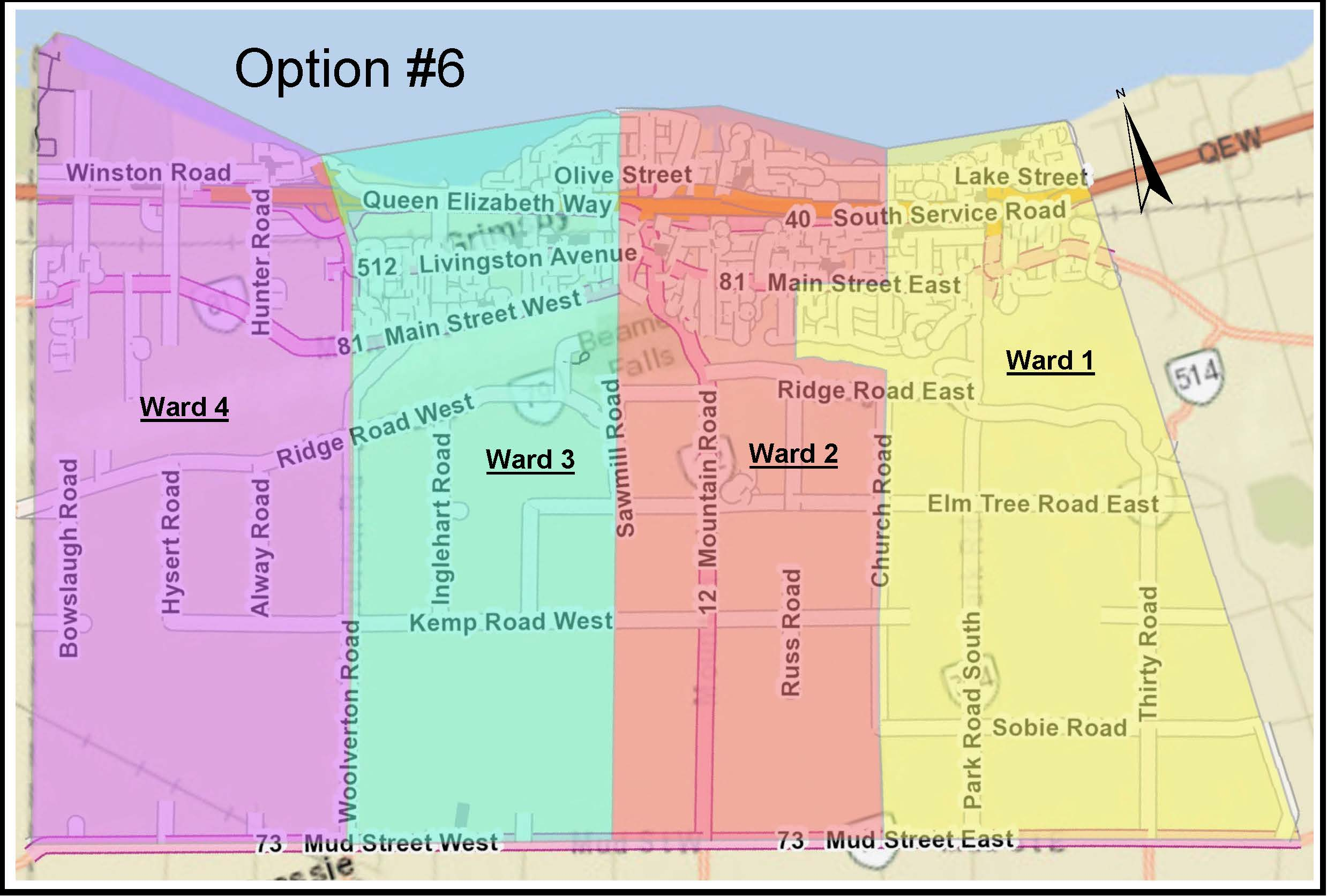 Ward Boundary Map Option 6